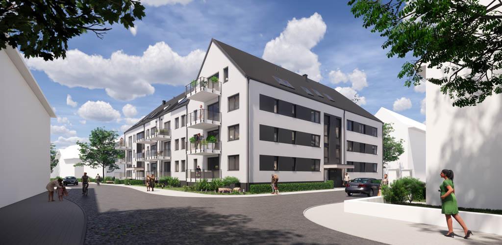 Spatenstich beim GEBAG Neubau WOhnbebauung Veilchenstraße Duisburg (c) Ropertz + Partner Architekten