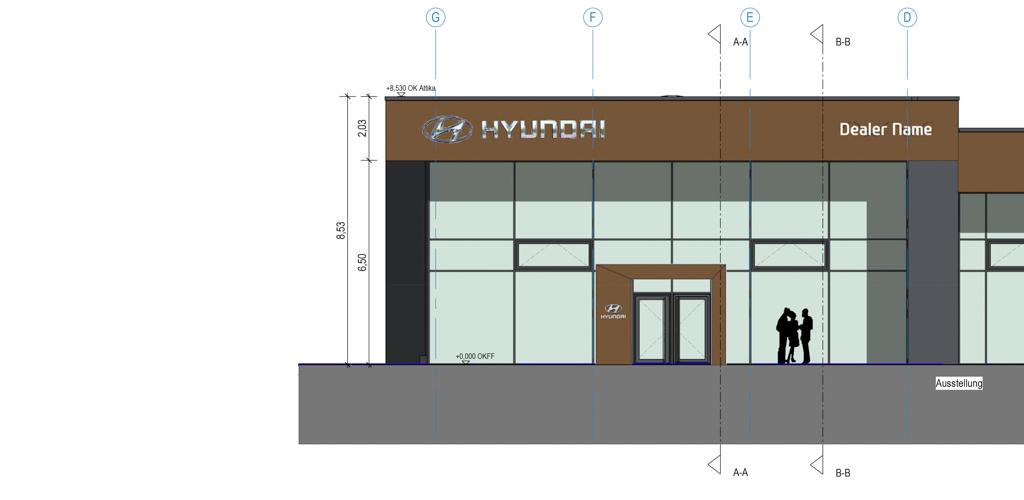Planung für den Neubau eines Hyundai Autohauses in Euskirchen